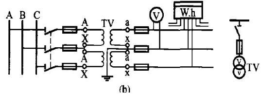 10kv电压互感器接线图VV接法图