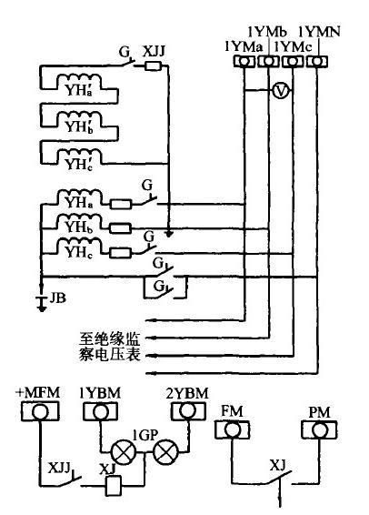 三相五柱式电压互感器原理图3